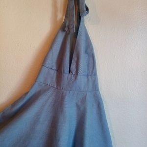 BB Dakota Chambray Halter dress